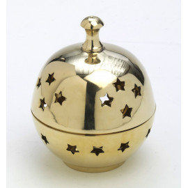 Brass incense burner with lid - 10 cm