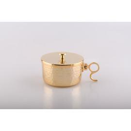 Ciborium, gold-plated with closure - 5.5 cm