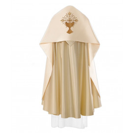 Chalice liturgical veil, IHS embroidered (25)