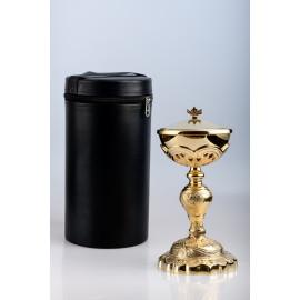 Ciborium + case, brass, gold plated - 27 cm (62)