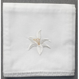Corporal - embroidered lily - 100% cotton