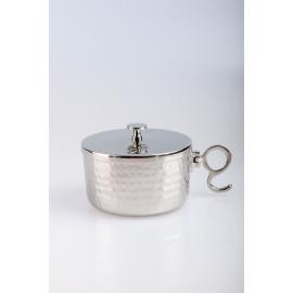 Ciborium silver plated with a closure - 5.5 cm