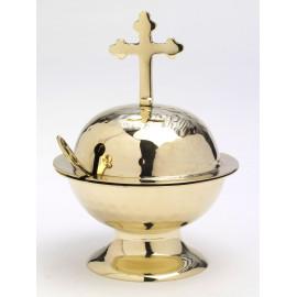 Boat with cross + spoon - 2 models (brass, nickel)
