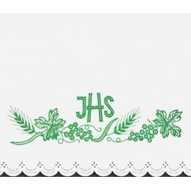 Altar Tablecloth IHS (3) - green embroidery