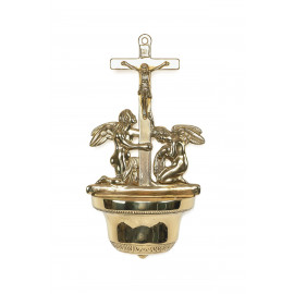 Holy Water Font - Angels, brass to Church (2)