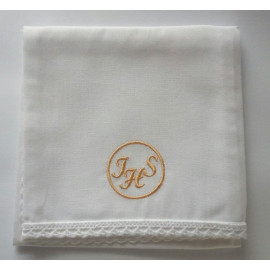 Corporal - embroidered gold IHS in the wheel - 100% cotton