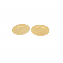 Paten of chalice - brass, gold plated (1)