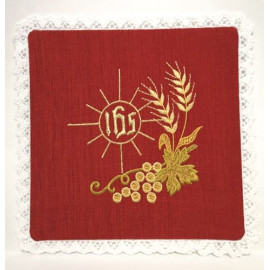 Chalice red pall - IHS Embroidery (1)