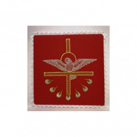 Chalice red pall - Holy Spirit Embroidery (2)