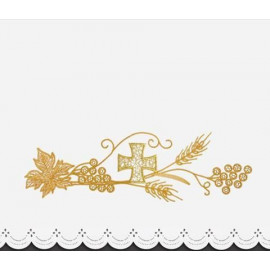 Altar Tablecloth cross - golden embroidery (30)