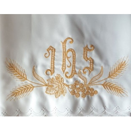 Altar Tablecloth IHS - golden embroidery (40)