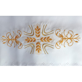 Altar Tablecloth cross - golden embroidery (41)