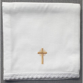 Corporal - embroidered gold cross - 100% cotton