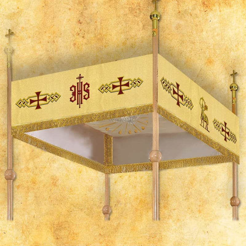 Processional embroidered canopy 120x160 cm (18)