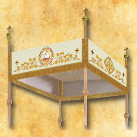 Processional embroidered canopy 120 x 160 cm (19)
