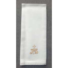 Purificator gold IHS cross - 100% cotton