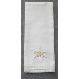 Purificator embroidered lily - 100% cotton