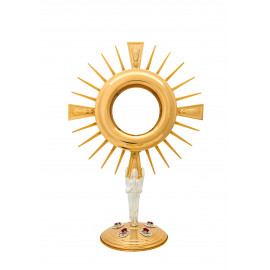 Gold plated monstrance height 36 cm (18)