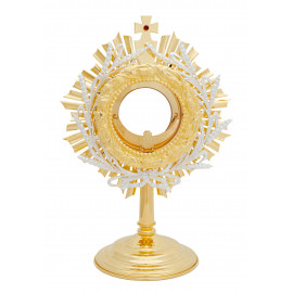 Gold plated monstrance height 31 cm (22)