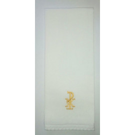 Purificator embroidered gold PX - 100% cotton