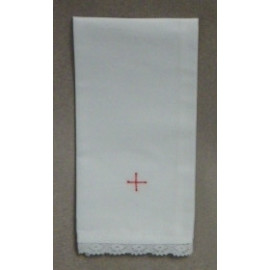 Purificator embroidered red cross - 5 pieces