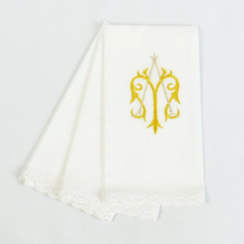Purificator embroidered Marian motif (3 pcs.)