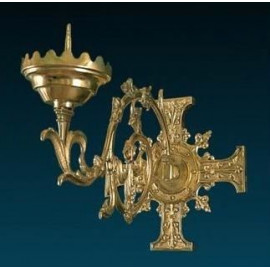 Brass wall sconce for candle light (4)