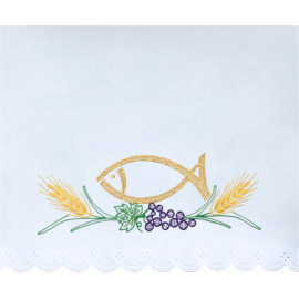 Altar Tablecloth embroidered fish (8)