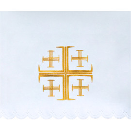 Altar Tablecloth Jerusalem cross (4) - gold embroidery