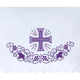 Altar Tablecloth violet cross (13)