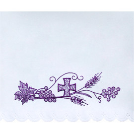 Altar Tablecloth violet cross and ear of grain (14)
