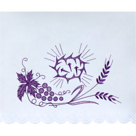 Altar Tablecloth purple embroidery (15)