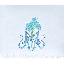 Altar Tablecloth Marian embroidery (17)