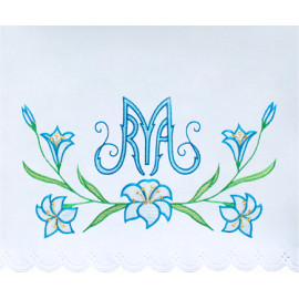 Altar Tablecloth Marian symbol embroidery (18)