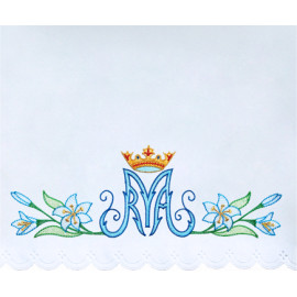 Altar Tablecloth Marian symbol embroidery (19)