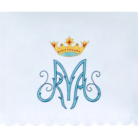 Altar Tablecloth Marian symbol embroidery (20)