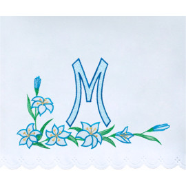 Altar Tablecloth Marian symbol embroidery (21)