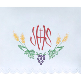 Altar Tablecloth embroidered IHS (23)
