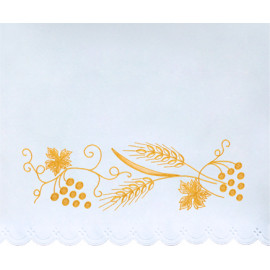 Altar Tablecloth grapes, ears of grain - golden embroidery (25)