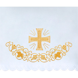 Altar Tablecloth golden cross embroidery