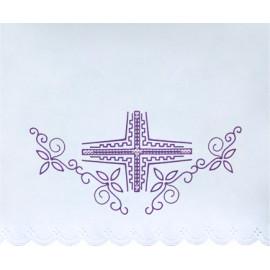 Altar Tablecloth violet cross  (16)