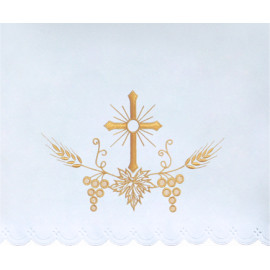 Altar Tablecloth cross - golden embroidery (31)