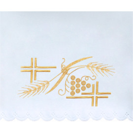 Altar Tablecloth cross, grapes - golden embroidery (32)