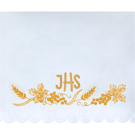 Altar Tablecloth IHS - golden embroidery (33)