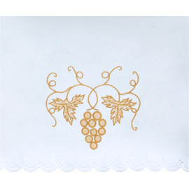Altar Tablecloth grapes - golden embroidery (35)