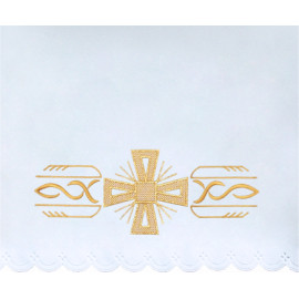 Altar Tablecloth cross - golden embroidery (36)