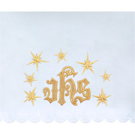 Altar Tablecloth IHS - golden embroidery (30)