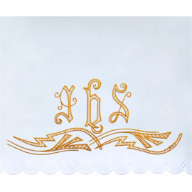 Altar Tablecloth IHS - golden embroidery (39)