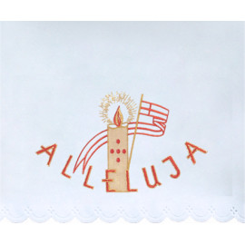 Altar Tablecloth Alleluja - golden embroidery (42)