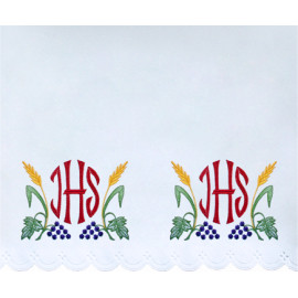 Altar Tablecloth IHS - colorful embroidery (46)